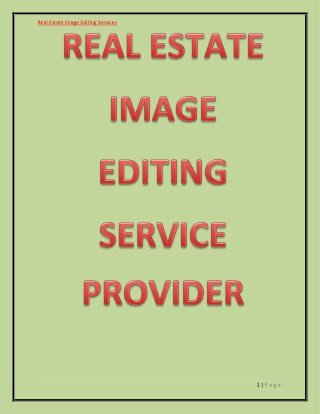 HIGH-END IMAGE EDITING SERVICES FOR REAL ESTATE PROPERTIES