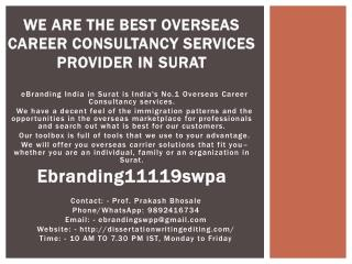 We Are the Best Overseas Career Consultancy Services Provider in Surat