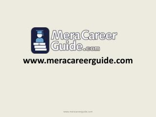 Career   Counseling  Website- Meracareerguide.com