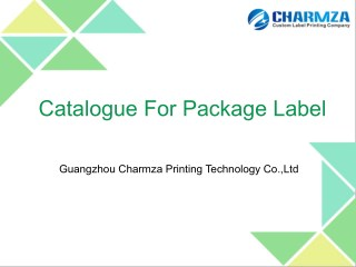 Professional Label Printing Manufacturer from China