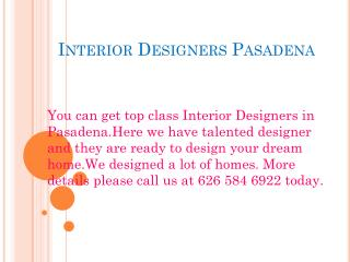 Interior Designers Pasadena