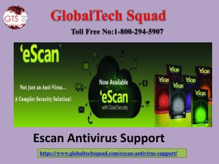 Escan Antivirus Support | Toll Free 1-800-294-5907