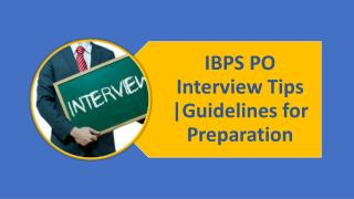 IBPS PO Interview Tips | Guidelines for Preparation
