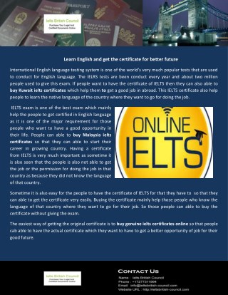 Verifiable ielts certificates online worldwide