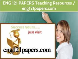 ENG 121 PAPERS Teaching Resources /eng121papers.com