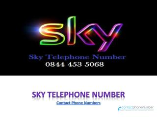 Call Sky Telephone Number 0844 453 5068