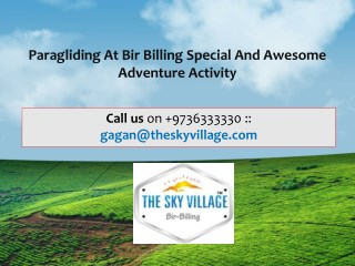 Paragliding at Bir Billing Special and Awesome Adventure Activity