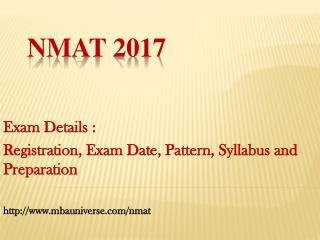 NMAT 2017 : Registration, Exam Date, Pattern, Syllabus and Preparation