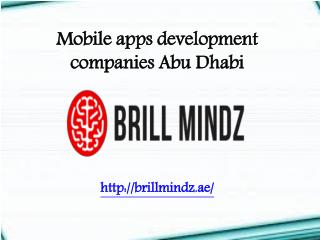 Mobile apps development Abu Dhabi