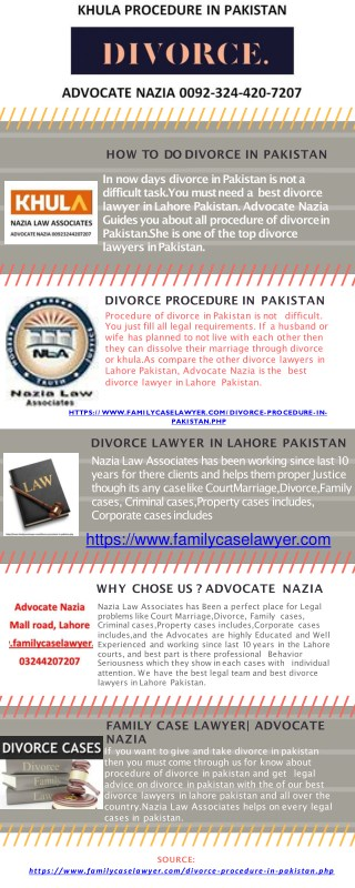 Short Procedure Of Divorce In Pakistan