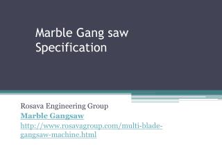 Marble gangsaw specification