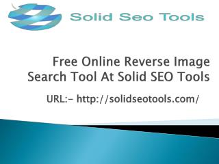 Free Online Reverse Image Search Tool At Solid SEO Tools