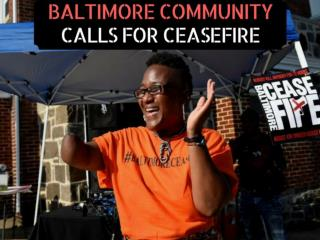 Baltimore Group Calls for Ceasefire Weekend