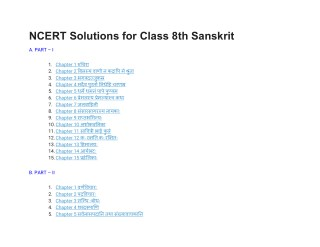 NCERT Solutions for Class 8 Sanskrit