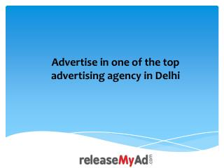 Delhi Advertisement Booking Online.