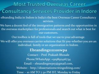 Most Trusted Overseas Career Consultancy Services Provider in Indore