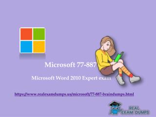 Download Valid Microsoft 77-887 Exam Questions - 77-887 Exam Dumps PDF