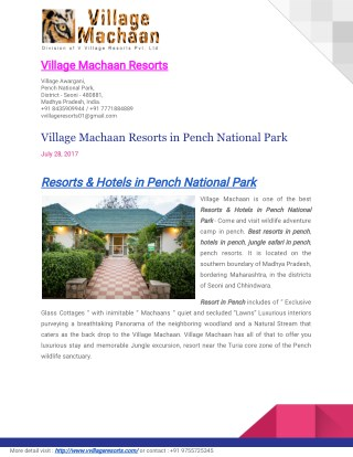 Hotels & Resorts in Pench