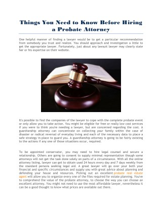 how to find a probate attorney