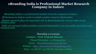 Professional Market Research Company in Indore