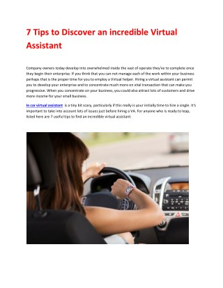 In Car Virtual Assistant (Hands-Free) | MessageMia