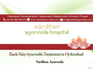 Back Pain Ayurvedic Treatment in Hyderabad | Vardhan Ayurveda