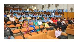 Conference Alert: 2017-2018 International Academic Conference