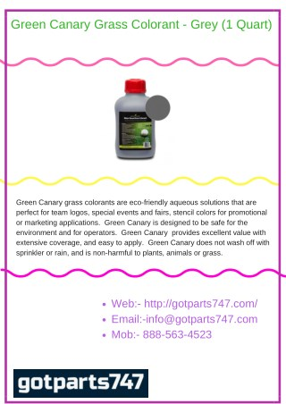 Green Canary Grass Colorant - Grey (1 Quart)