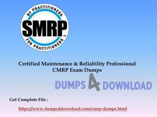 SMRP CMRP Exam Study Guide - CMRP Exam Braindumps Dumps4download