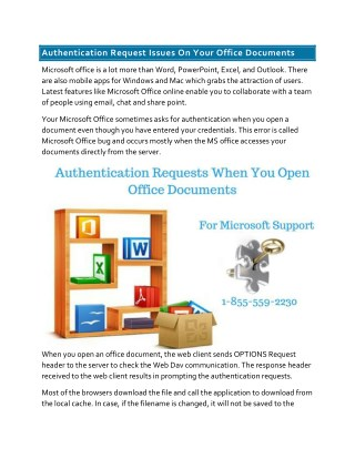 Authentication Request Issues On Your Office Documents