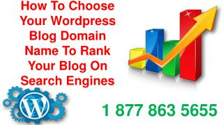 How To Choose Your Wordpress Blog Domain Name To Rank Your Blog On Search Engines