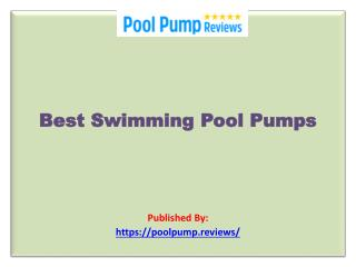 Best Swimming Pool Pumps