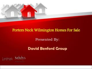 Porters Neck Wilmington Homes for Sale