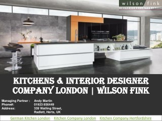 Best Kitchen Company London - Wilson Fink