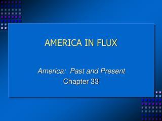 AMERICA IN FLUX
