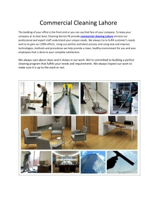 Commercial Cleaning Lahore