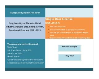 Propylene Glycol Market - Global Industry Volume and Region Analysis – 2025