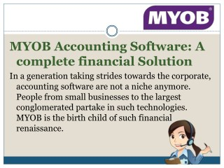 MYOB accounting software: A complete financial solution