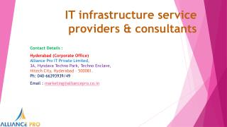 IT infrastructure service providers,IT consultants