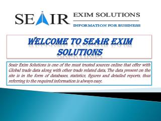 Find Right information about Global Export Import Data with SeAir