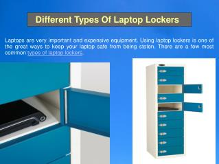 Different Types Of Laptop Lockers