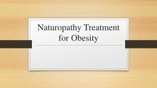 Naturopathy Treatment For Weight Loss