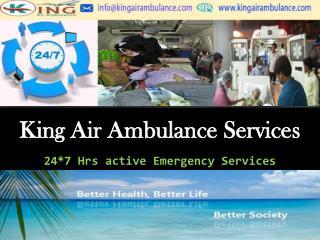 Very Low Cost Air Ambulance Services in Kolkata by King Air Ambulance