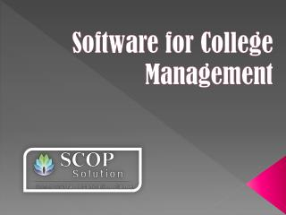 Software for college management | Scop Solution