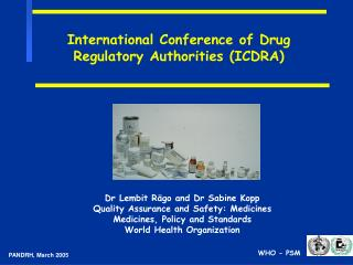 International Conference of Drug Regulatory Authorities ICDRA