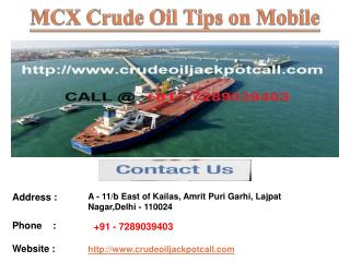 Crude Oil Tips Free Trial, Crude Oil Tips Provider in India