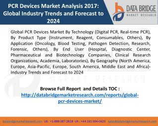 Global PCR Devices Market Report 2017-2024