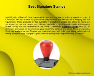 Best Signature Stamps