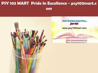 PSY 103 MART  Pride In Excellence /psy103mart.com