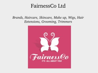 Online Store for Beauty Products - FairnessCo Ltd